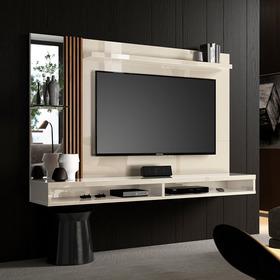 Painel Home Paris Para Tv Até 55 Polegadas Off White/ripado