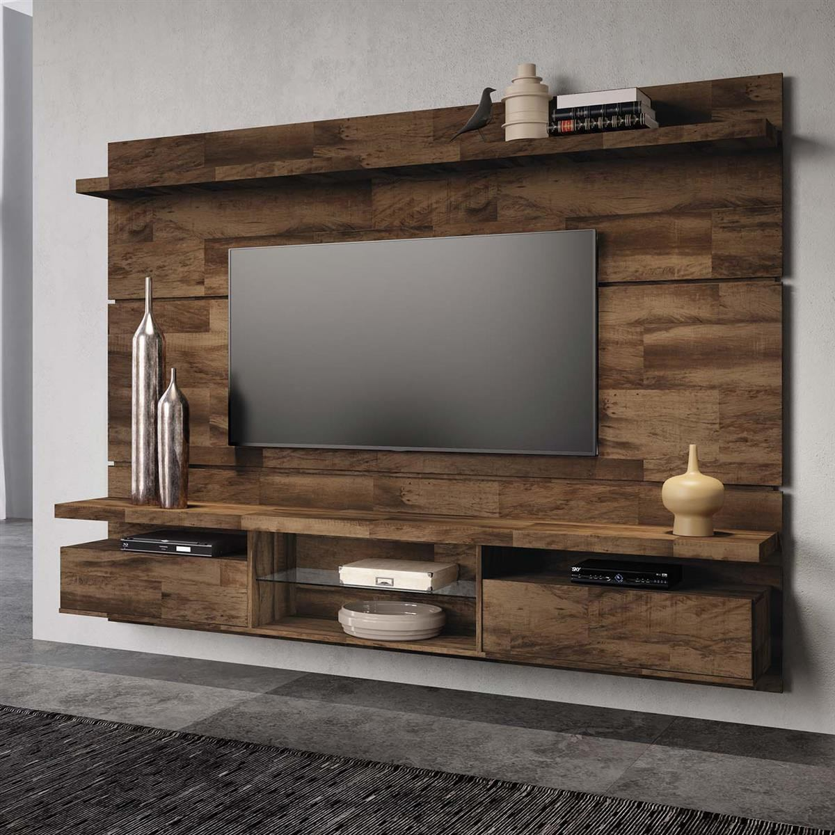 painel home theater suspenso livin 2 2 mocaccino hb m veis r 765 00 em mercado livre. Black Bedroom Furniture Sets. Home Design Ideas
