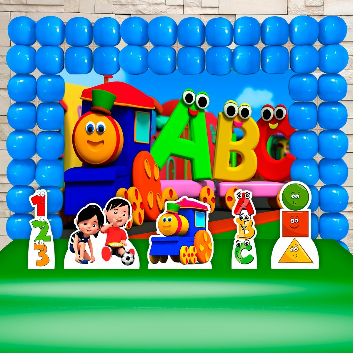 Painel Infantil Bob O Trem Display Telas Frete Gratis R 143