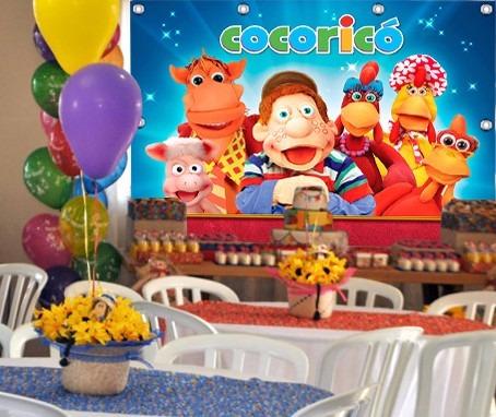 painel infantil cocoricó 1,80 x 1,20m, festas