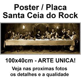 Painel Janis Joplin Santa Ceia Do Rock Tamanho 100 X 40 Cm