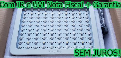 painel led grow super chip 1000w modelo 2020 com ir e uv ful com nota fiscal e garantia de 1 ano no brasil! promoção!