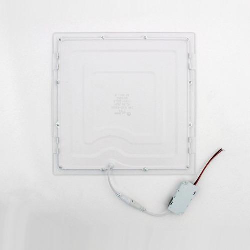 painel led plafon de embutir, 24w, 30x30cm, 6500k, bivolt