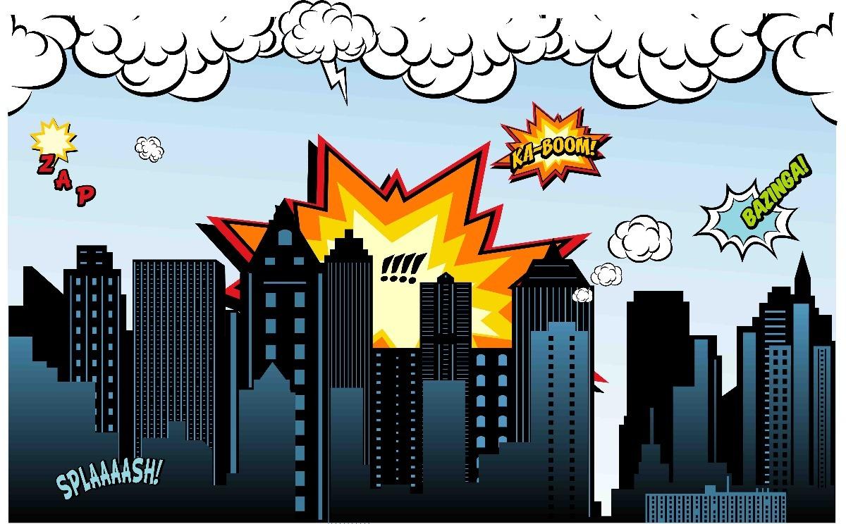 Painel Lona Fosca Cidade Super Herois 03 4 00x2 00 48hs R