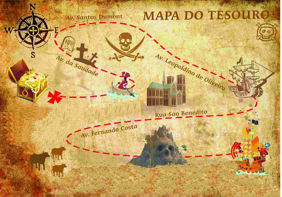 mapa do tesouro Painel Lona Fosca Mapa Do Tesouro Piratas 2,0x1,50. Displays   R  mapa do tesouro