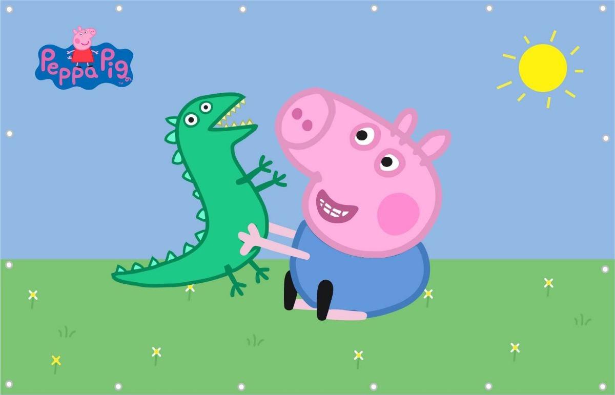 Painel Lona George Pig Peppa Pig 3 00x1 80m R 140 50 Em Mercado