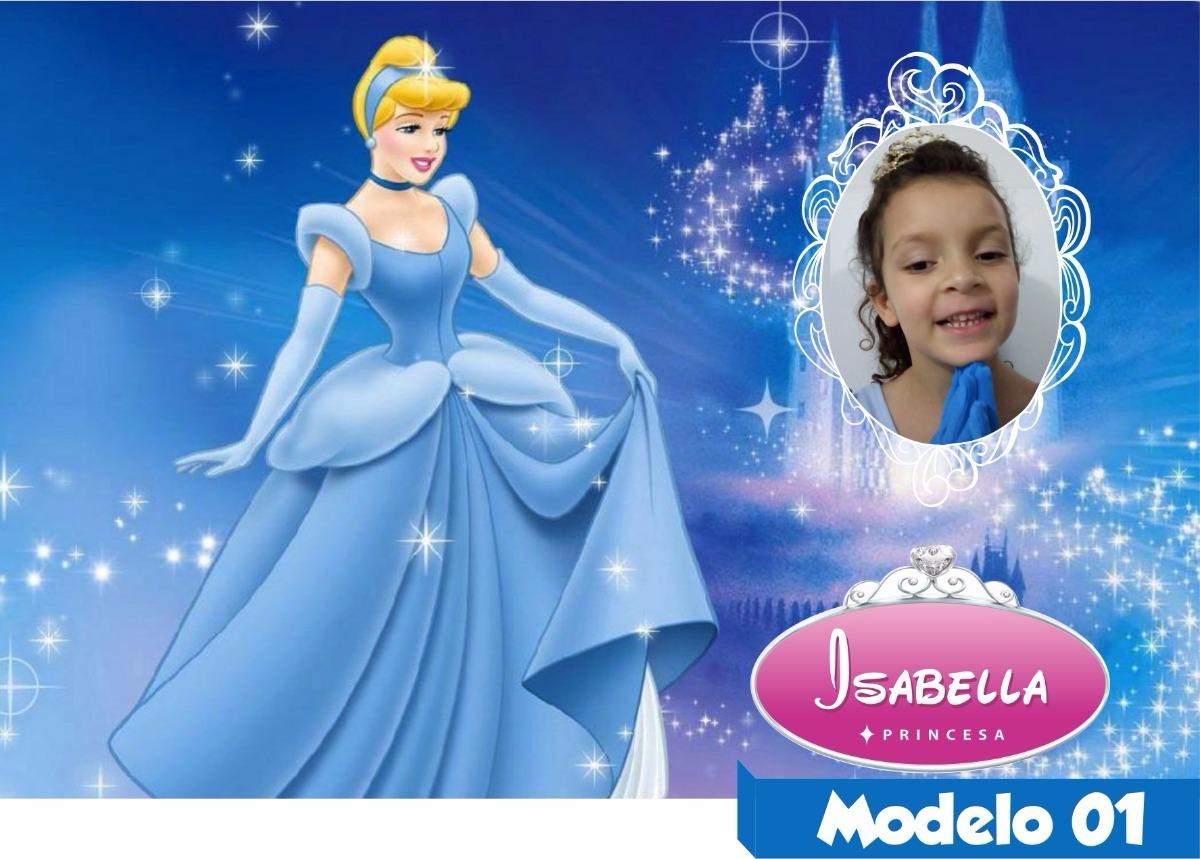 Painel lona princesas cinderela hd nome foto personalizado r 75 carregando zoom altavistaventures Choice Image