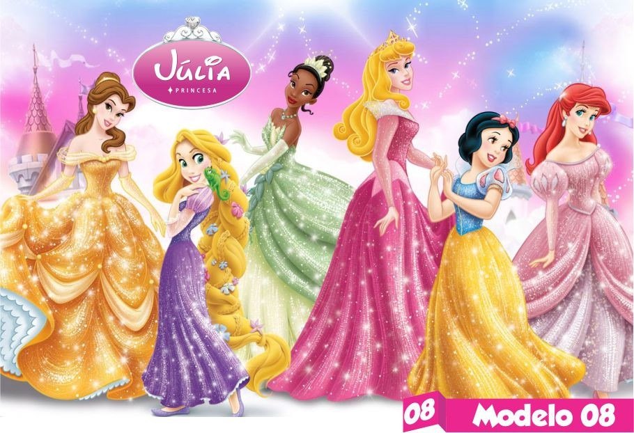 Painel lona princesas disney festa menina infantil nome hd r 75 carregando zoom altavistaventures Choice Image