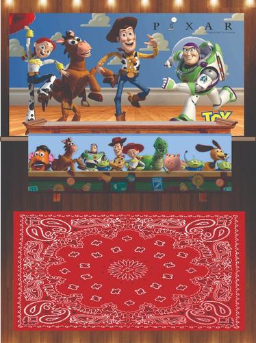 painel lona toy story + saia mesa + tapete 2x1,50 festa (1)