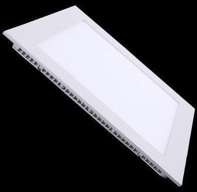 painel luminaria plafon led embutir qd slim 12w branco frio