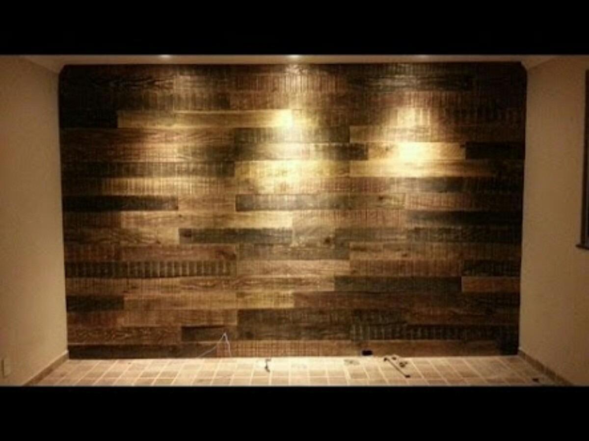 Painel Madeira Tv Revestimento Parede Sala Cozinha R$ 120 00 em  #B1911A 1200x899