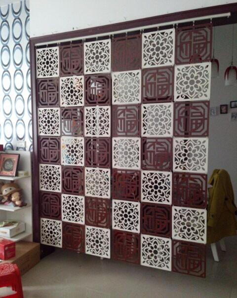 Painel Mdf Cru 45cm X 45 Cm Elemento Vazado Decorativo R
