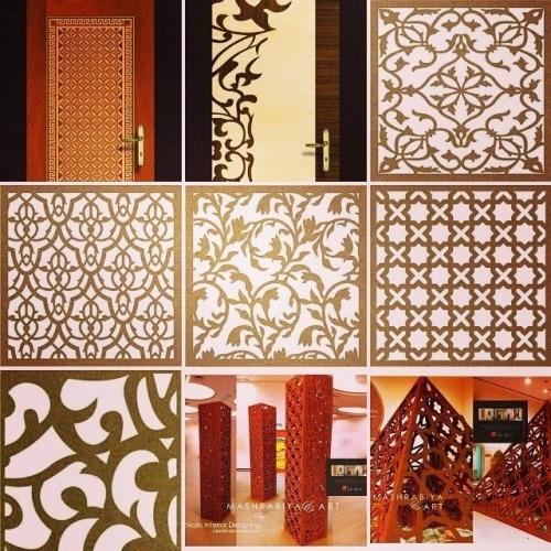 Painel mdf elemento vazado m dulos 50 cm divis ria - Placas decorativas para pared interior ...