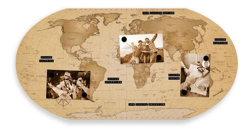 painel metálico mural mapa mundi explore + frete grátis*