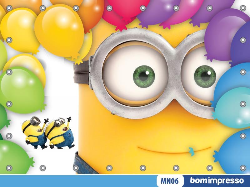 Banner Feliz Aniversario: Painel Minions 2,00x1,50m Lona Festa Aniversario Banner