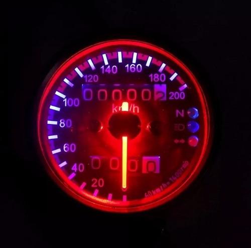 painel moto velocímetro chopper harley triciclo cromado 05
