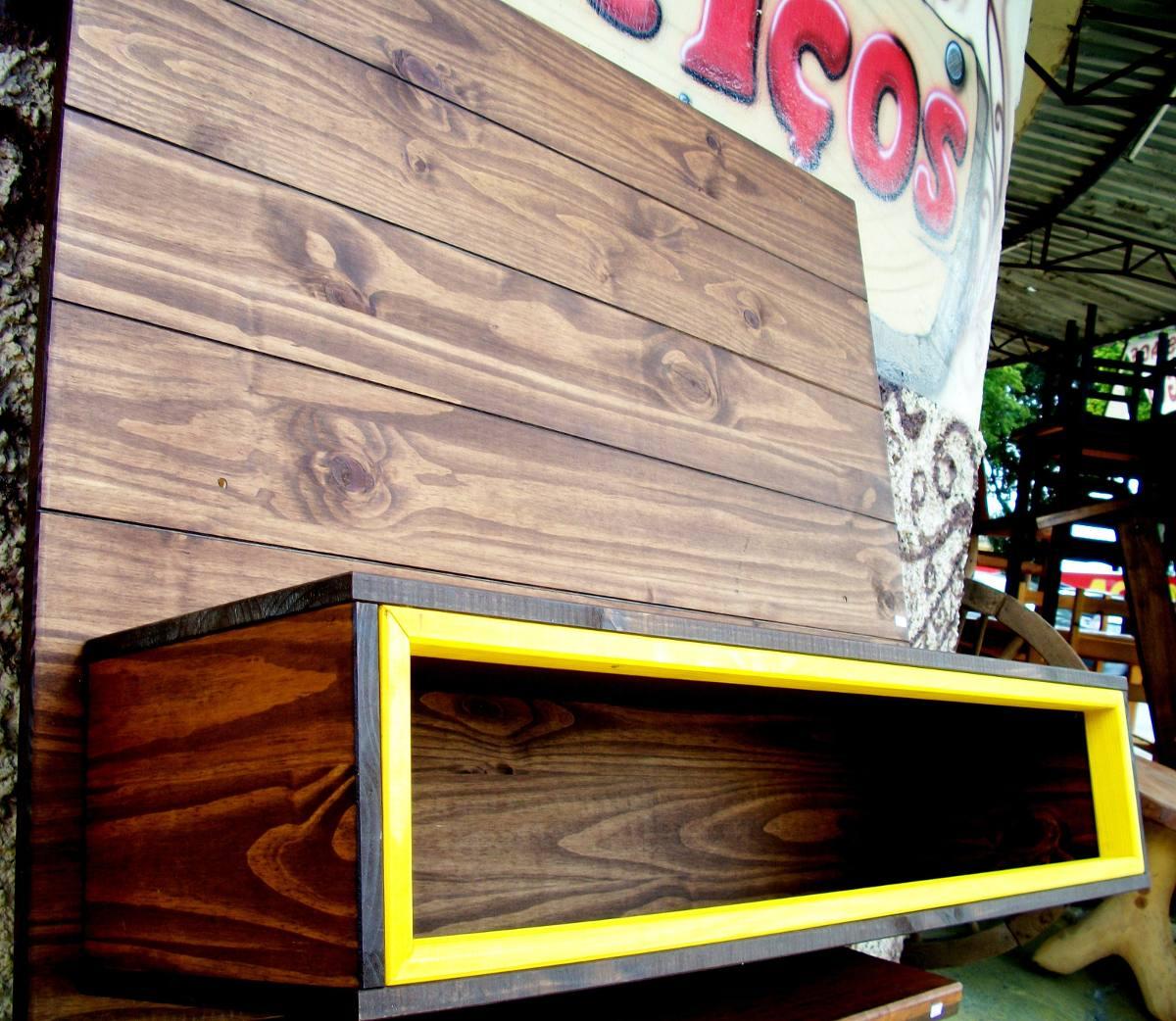 Painel P/ Tv Com Nicho Mod.retrô Rack Sob Medida Em Madeira R$ 769  #BCB30F 1200x1042