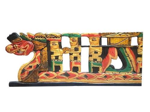 painel pandil decorativo em madeira procissão dragão - bali