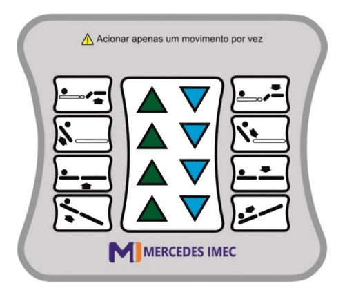 painel para cama hospitalar marca mercedes imec 175110