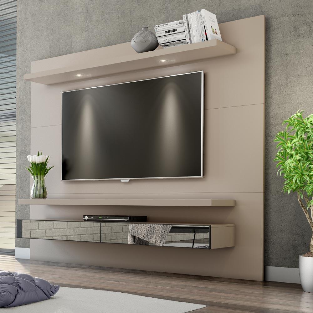 Painel Para Tv 220 Fendi Com Espelho Tb108e Dalla Costa R 1 041  -> Foto Painel Para Tv
