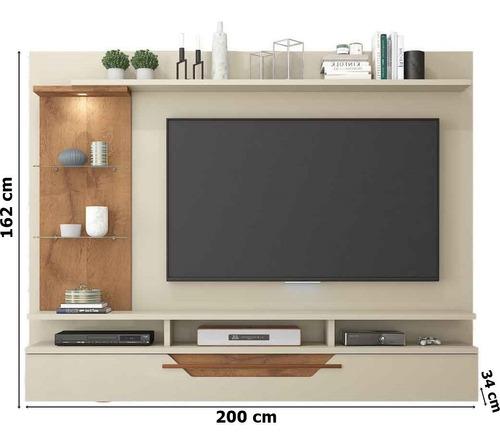 painel para tv 60 polegadas londres permobili off white/sav