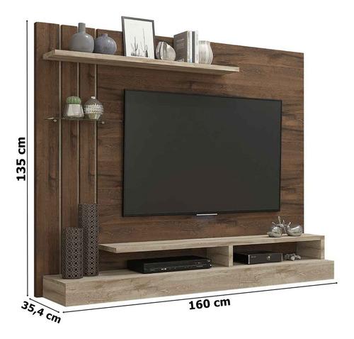 painel para tv até 47¨ valência permobili móveis café/rústic