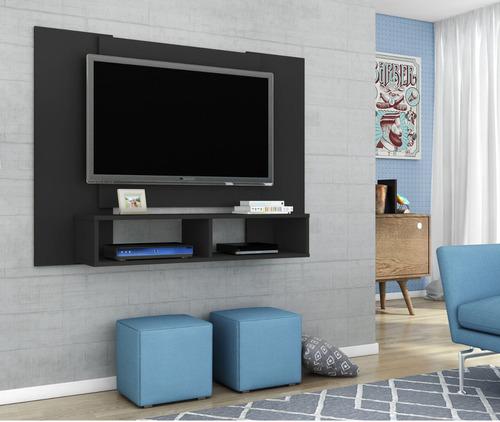 painel para tv até 48 navi sala cor preto