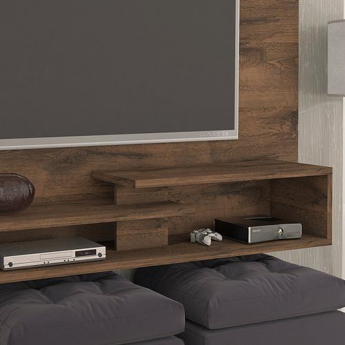 painel para tv até 50 polegadas com prateleira doppio bb