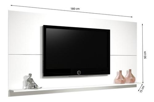painel para tv até 55 polegadas jhon branco  - mobilarte