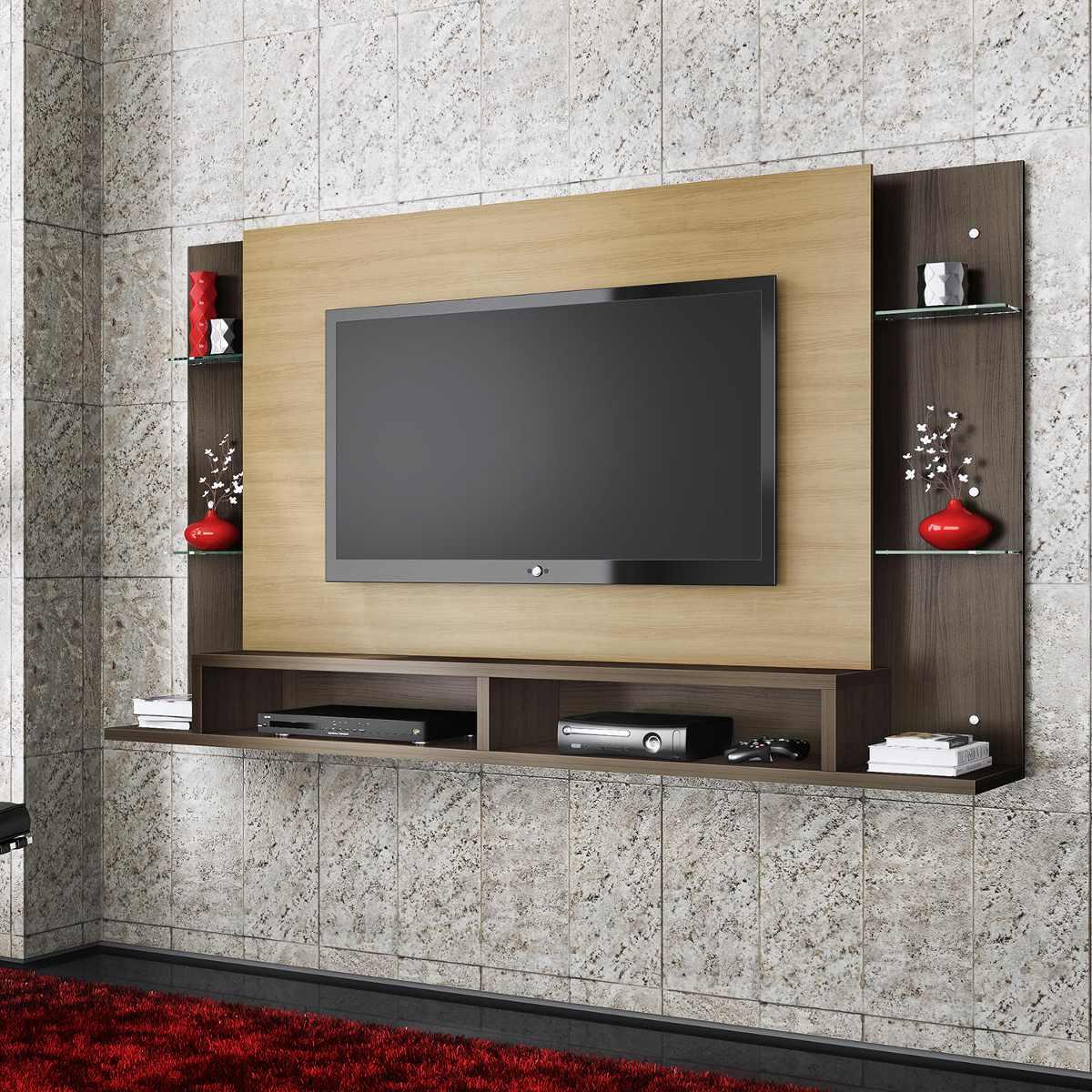 Painel Para Tv Com Bancada Malbec Belaflex Am 234 Ndoa Cacau