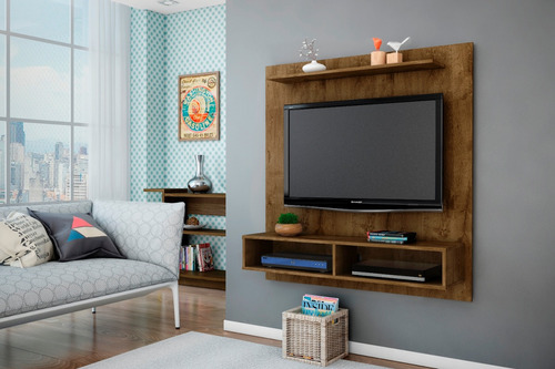 painel para tv gama madeira rústica