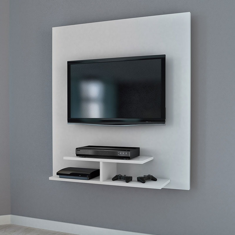 painel para tv pequeno 90 cm 5019 tv at 40 pol branco r 139 00 em mercado livre. Black Bedroom Furniture Sets. Home Design Ideas