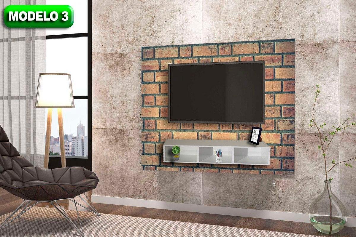 Painel Para Tv Tijolinho Adesivo Decorativo 1 50×1 00mt R 59 99  -> Adesivo Decorativo Na Parede De Tv