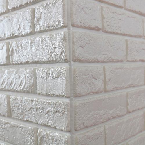 painel placa 3d tijolo branco espuma adesiva 70 x 76 parede