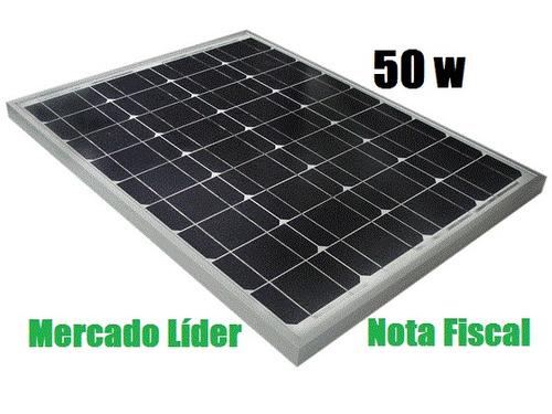 painel placa célula energia solar fotovoltaica  50w watts