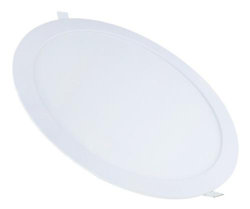 painel plafon 25w led redondo embutir branco frio teto gesso