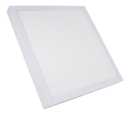 painel plafon led 36w 40x40 quadrado sobrepor branco quente  luminária teto decoração iluminação