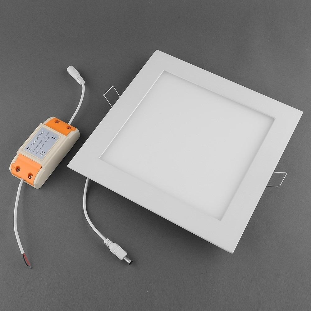 Painel plafon luminaria led quadrado embutir ultra slim for Luminarias de exterior led