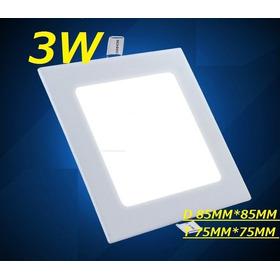 Painel Plafon Luminaria Led Quadrado Embutir Ultra Slim 3w