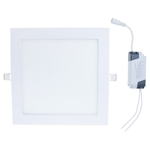 painel plafon luminaria led quadrado ultra slim 18w embutir