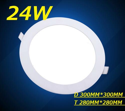 painel plafon luminaria led redondo embutir ultra slim 24w