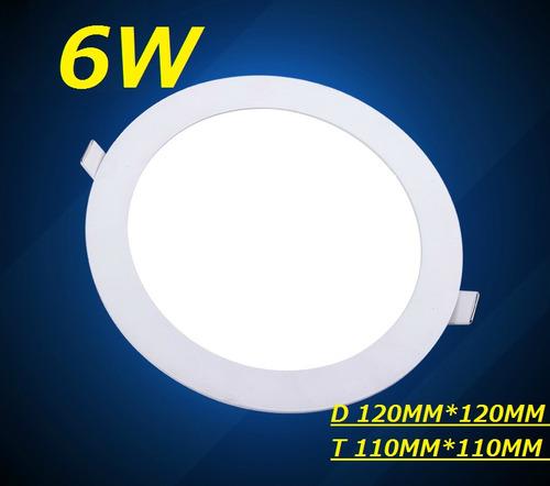painel plafon luminaria led redondo embutir ultra slim 6w
