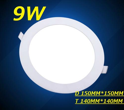 painel plafon luminaria led redondo embutir ultra slim 9w