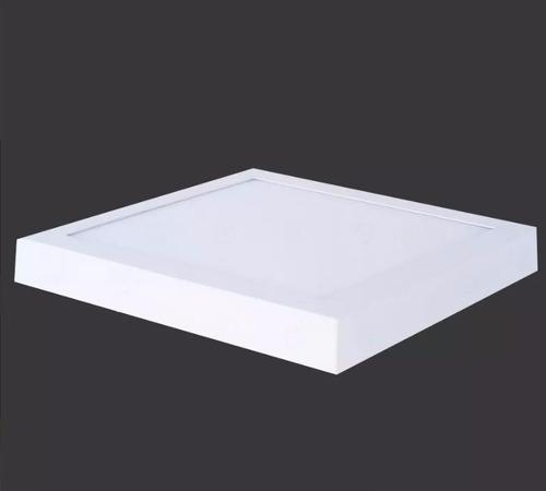 painel plafon luminaria sobrepor teto led 12w redondo/quad.