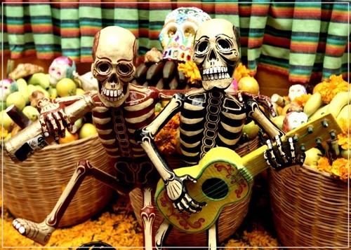 painel poster 60x84cm caveiras mexicanas - pra decorar festa