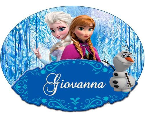 painel poster  da frozen, personalizamos para festa 90x60