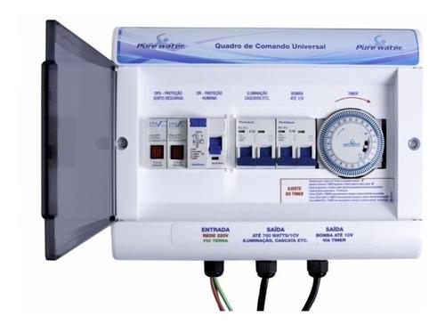 painel quadro de comando universal p/ piscinas - 1 cv - 220v
