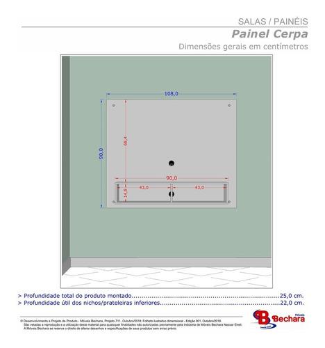 painel sala para tv de até 43 polegadas cerpa