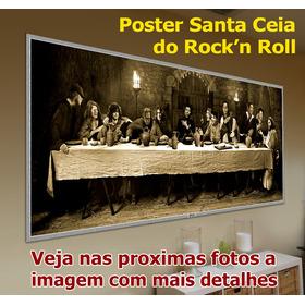 Painel Santa Ceia Do Rock'n Roll Tamanho 60 X 25 Cm