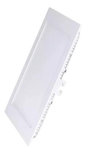 painel slim quadrado embutir led 18w bivolt 6000k luz branca